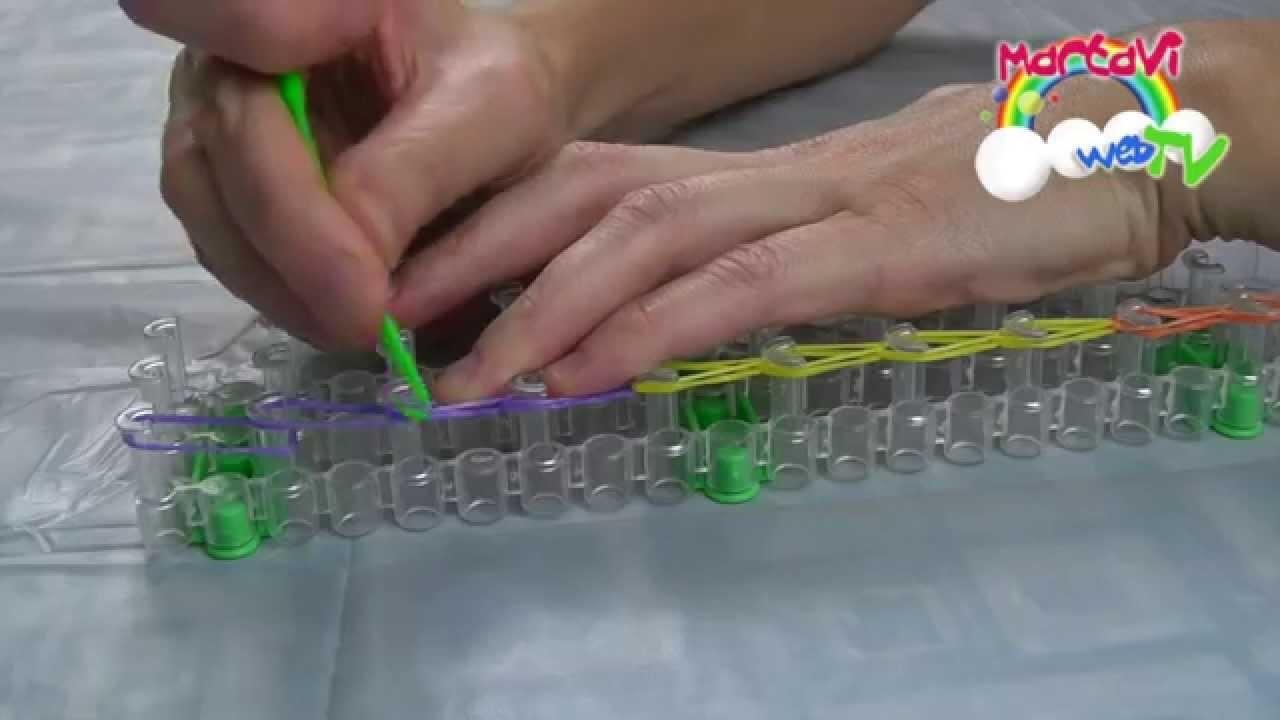 Braccialetti elastici - 1. La catenella con telaio