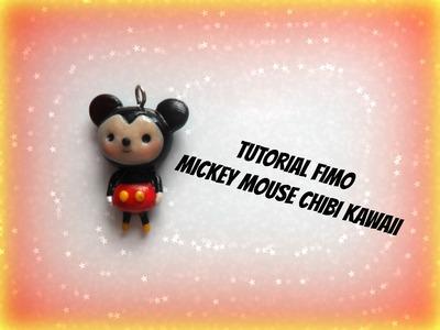 Tutorial Fimo Mickey Mouse chibi kawaii