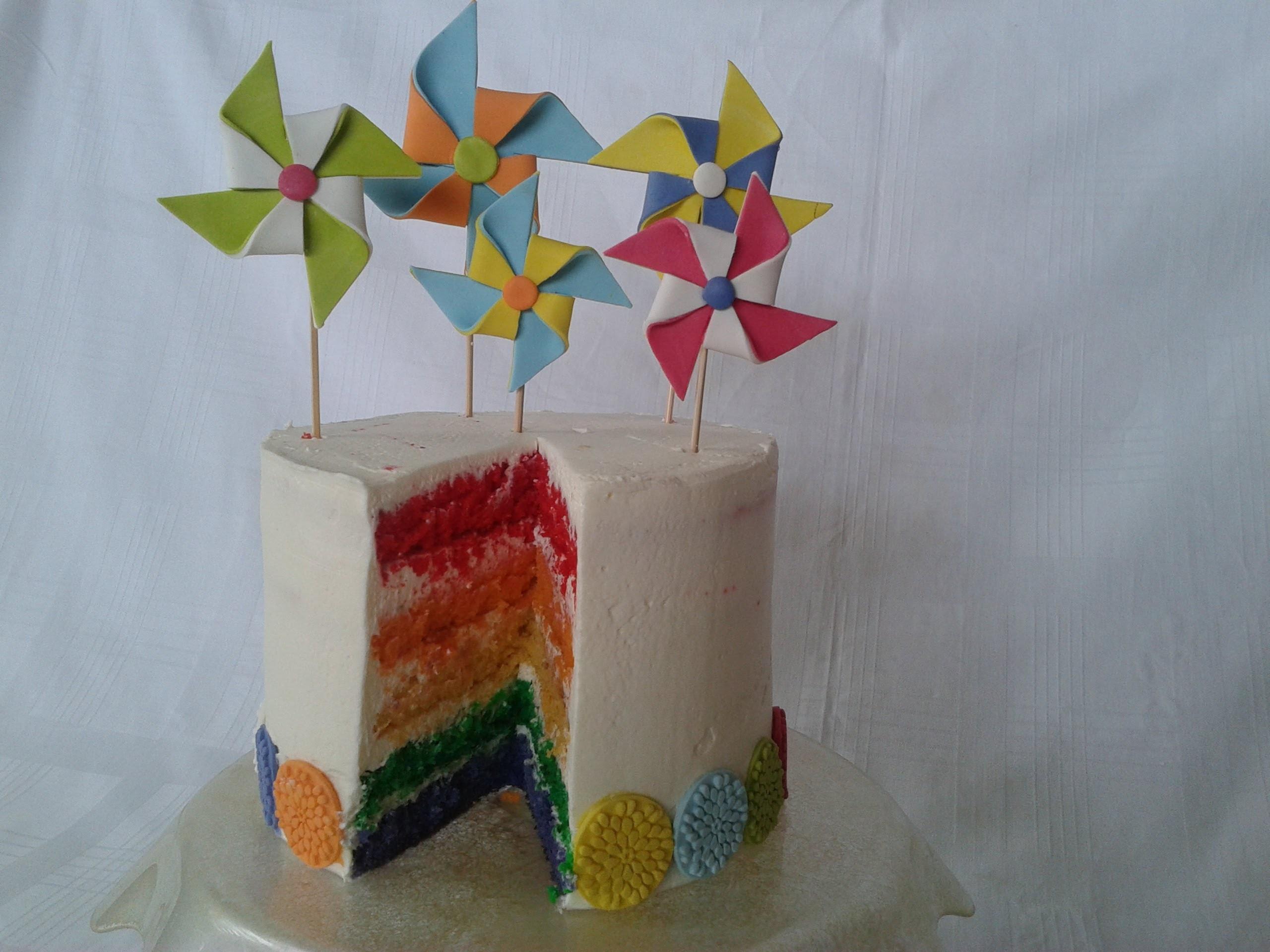 Torta arcobaleno,Recipe Rainbow cake