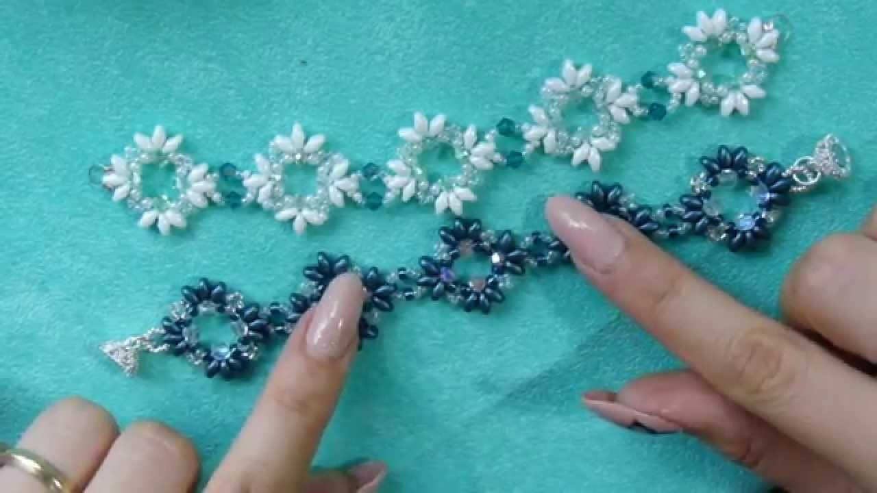 DIY tutorial bracciale o collana superduo gioielli fai da te sub english beadwork bracelet handmade