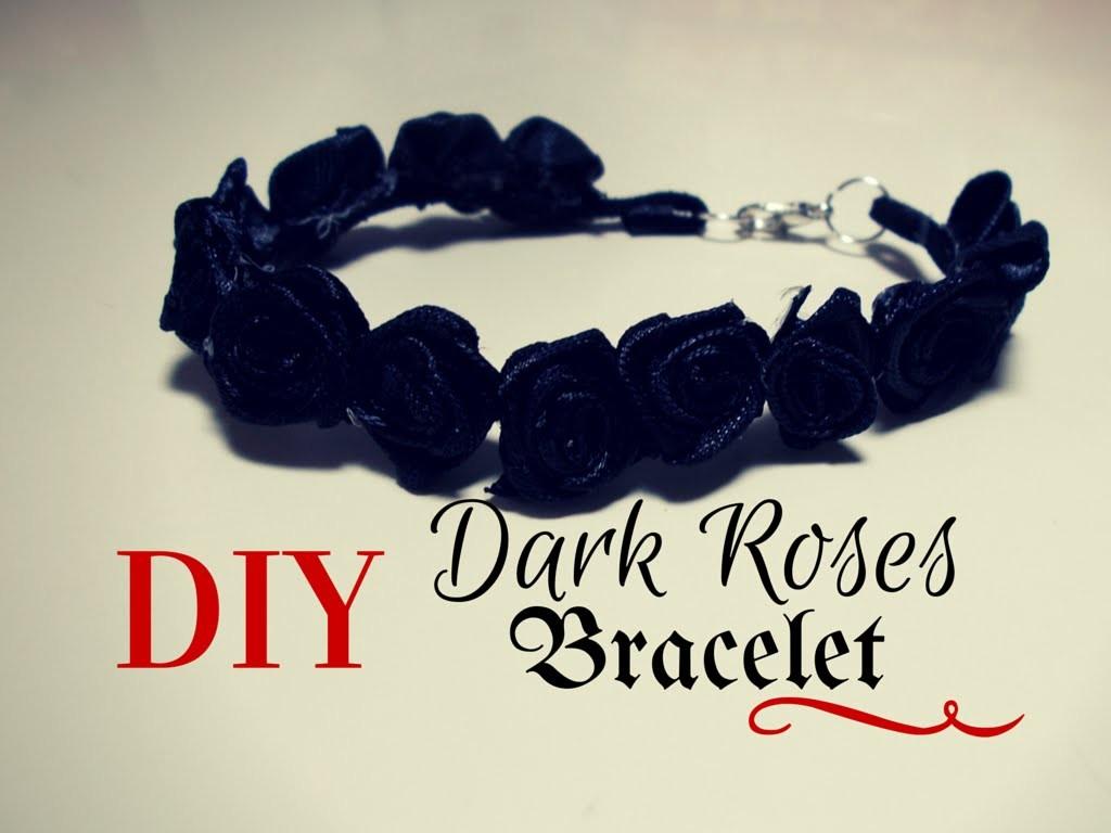 DIY Dark Roses Bracelet ❖ Tutorial Bracciale Gotico ✂ Senza cuciture ~ No Sew ✂