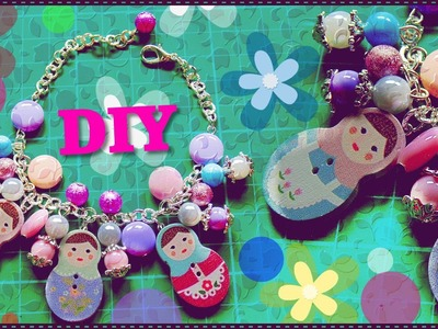 Tutorial: Creare un Bracciale con Ciondoli a Bottone | DIY Create a Bracelet with Buttons charms