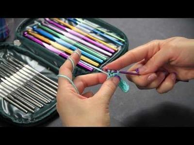 Video Tutorial Uncinetto Mezza maglia alta - half double crochet - Punti base Full HD Ita