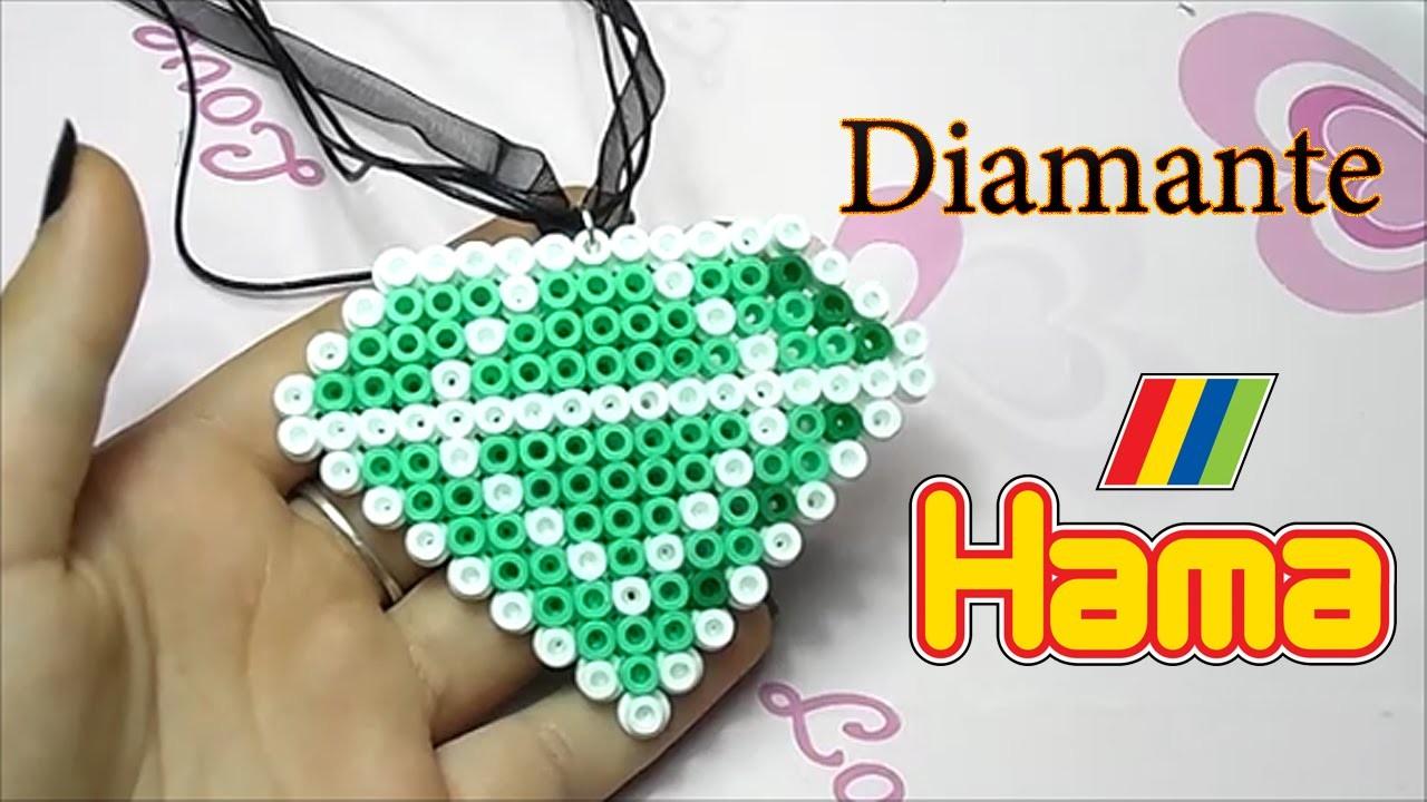 Diamante con Hama Beads✧Diamond with Perler Beads Tutorial ✧