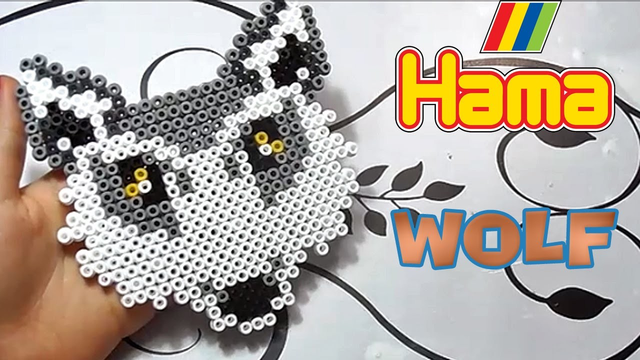 Lupo con Hama Beads|Wolf Perler Bead Tutorial!