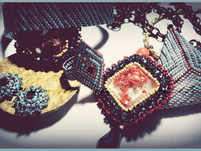 Collane, orecchini, anelli - Embroidery, peyote, brick stitch - (beadwork)