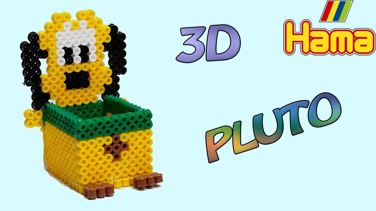 Porta Oggetti Pluto con Hama Beads.Perler Beads box jewelry