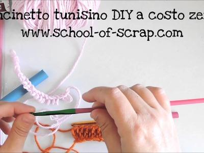 Uncinetto tunisino DIY a costo zero