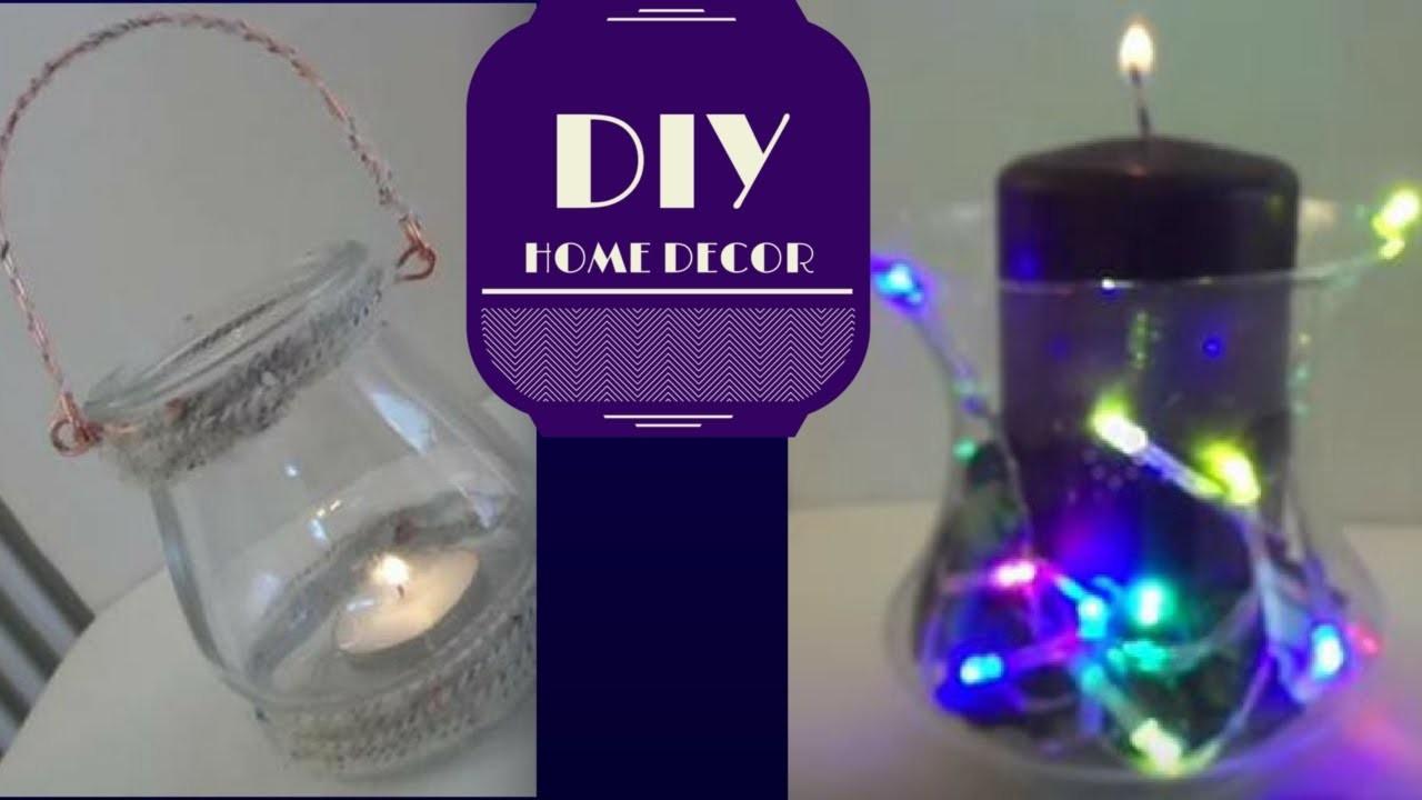 DIY HOME DECOR || vaso e porta candela in lana | DebbyinWonderland