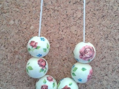 Crea una Bella Collana con Perline in Decoupage - Fai da Te Style - Guidecentral