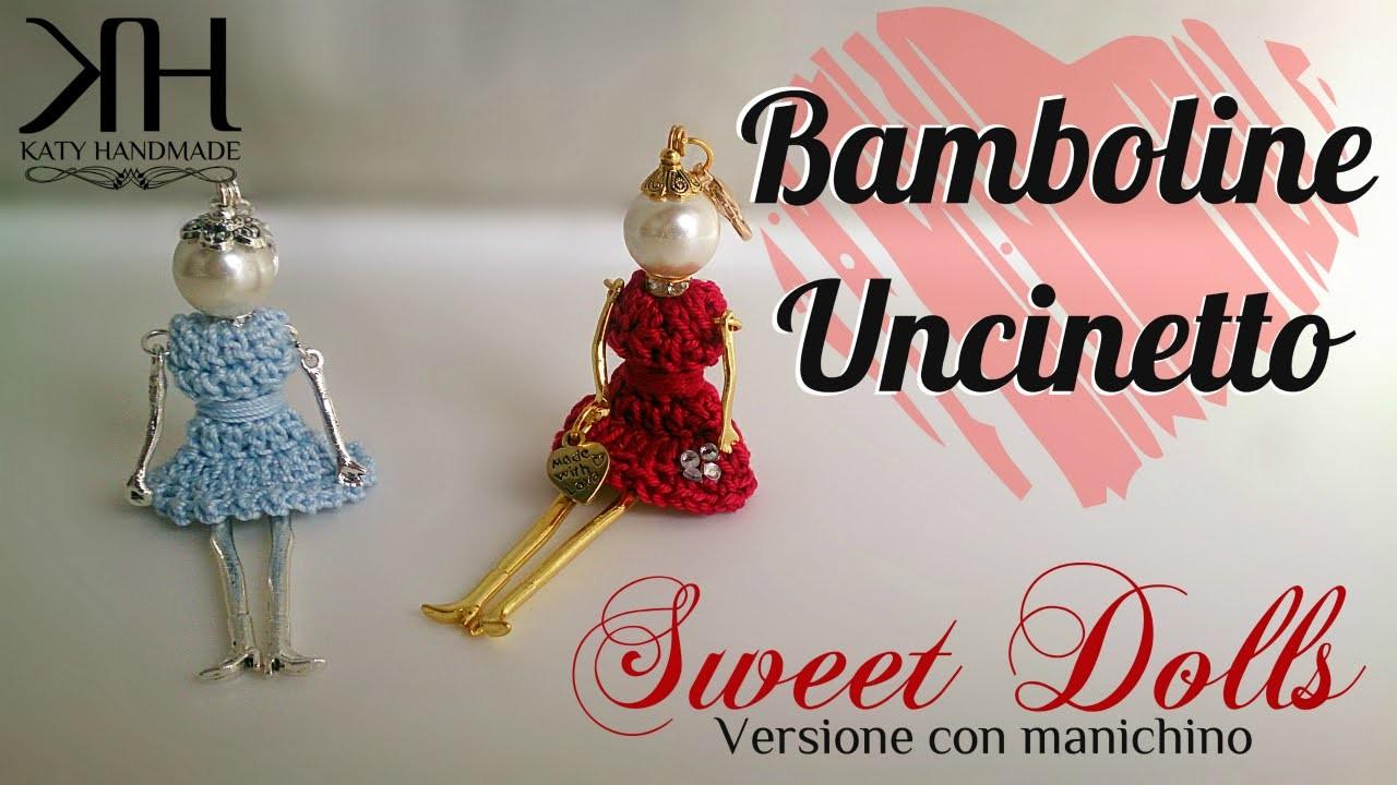 ♡ [Tutorial uncinetto #17] Bamboline | My Sweet Dolls | Vestito | Crochet | Katy Handmade ♡