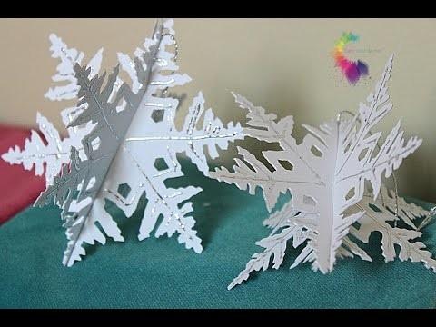 Fiocchi di Neve 3D con Deco Foil iCraft Termoweb-Snowflake DIY-Natale Fai da te