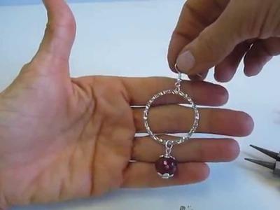 Tutorial semplice semplice di elisir - orecchini a cerchio con radice di rubino