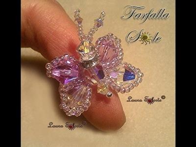 DIY Tutorial Farfalla Sole: anello di cristalli e perline seconda parte