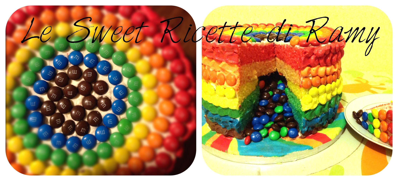 Torta arcobaleno Piñata   (Rainbow cake)