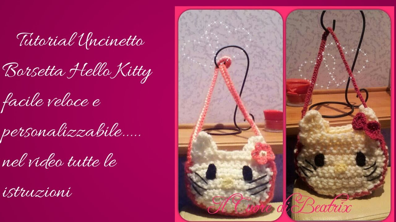 Tutorial Uncinetto borsa hello kitty parte 3