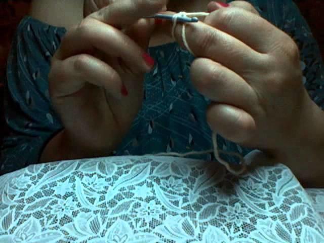 Crochet: Lezione n.2 ( avvio circolare con catenella- avvo anello magico per amigurumi)