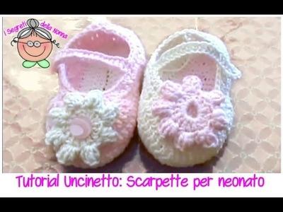 Tutorial Uncinetto: come si fanno le scarpine per neonati