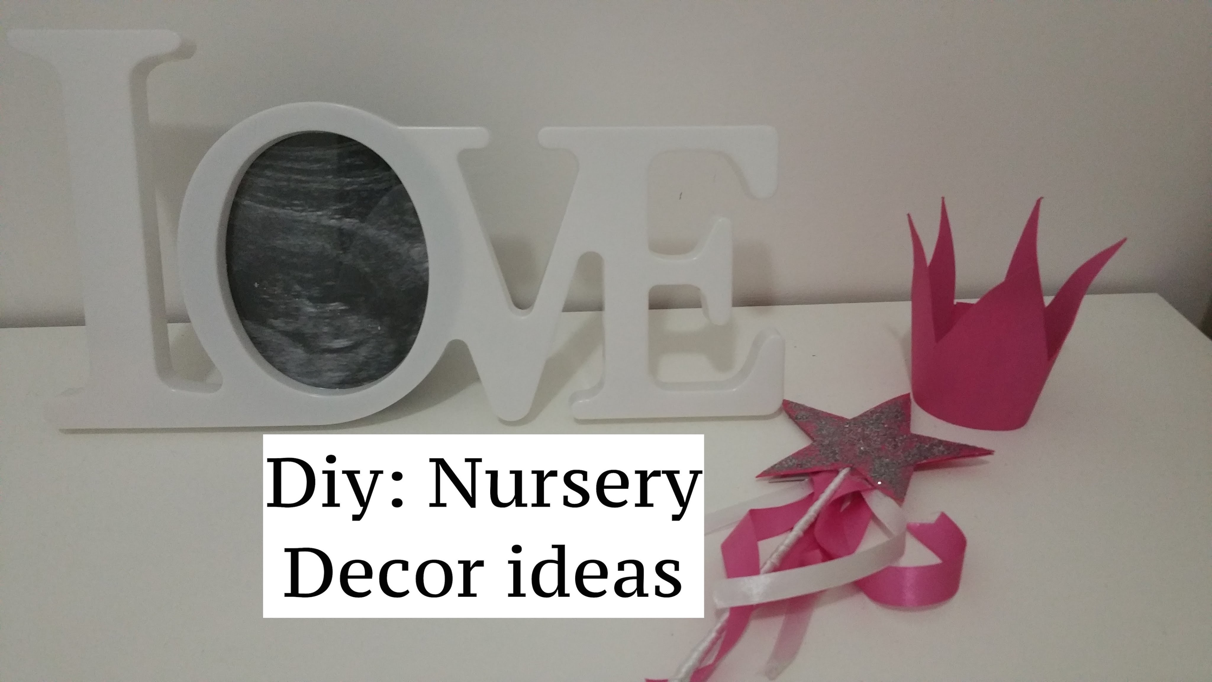 Diy: tutorial 2 Easy Nursery Decor Ideas. 2 semplici idee per decorare la camera del bebe