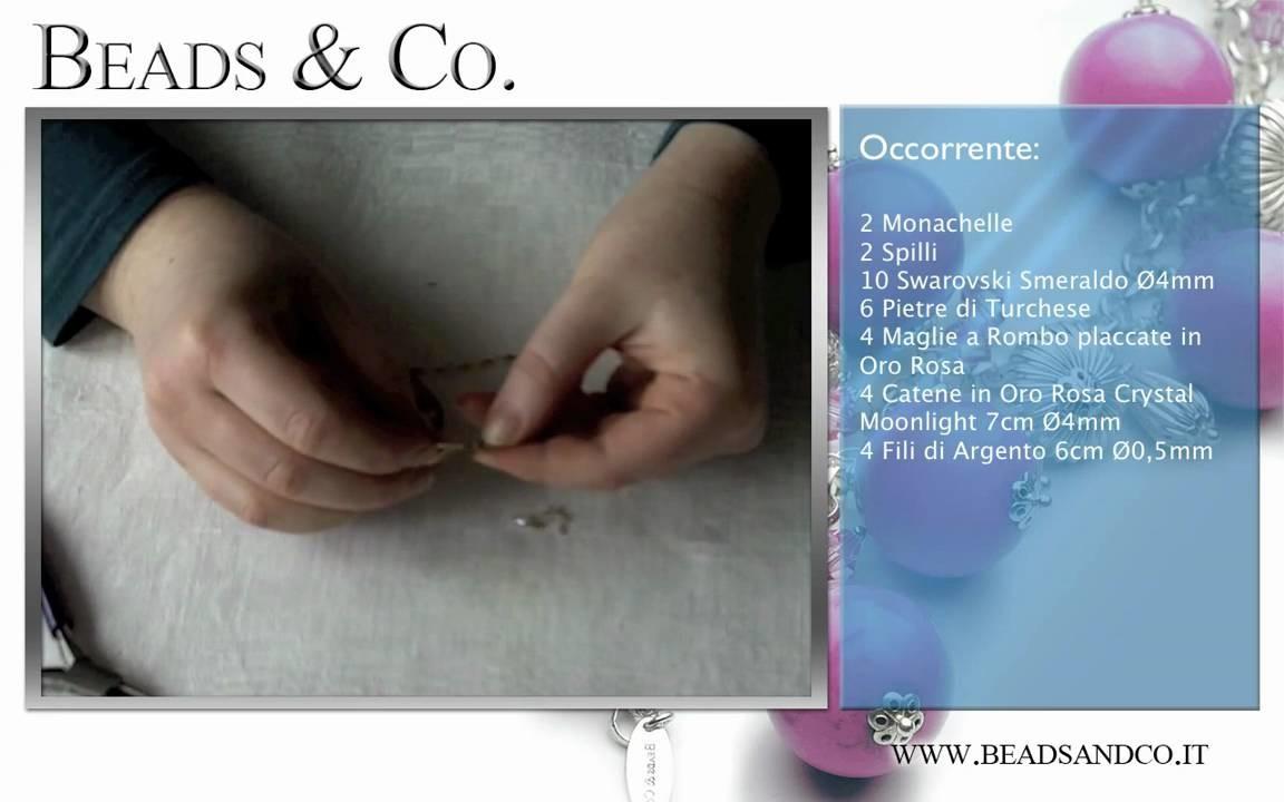 Realizzare orecchini con oro rosa- Tutorial Beads&Co -  Oro Rosa - Lezione 22