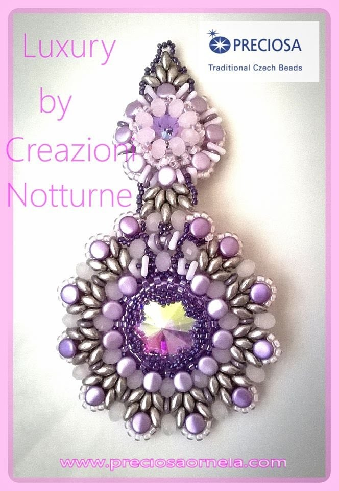 Tutorial orecchini LUXURY con Pellet cipollotti e tri beads VIDEO  COLLABORAZIONE PERLINE E GIOIELLI