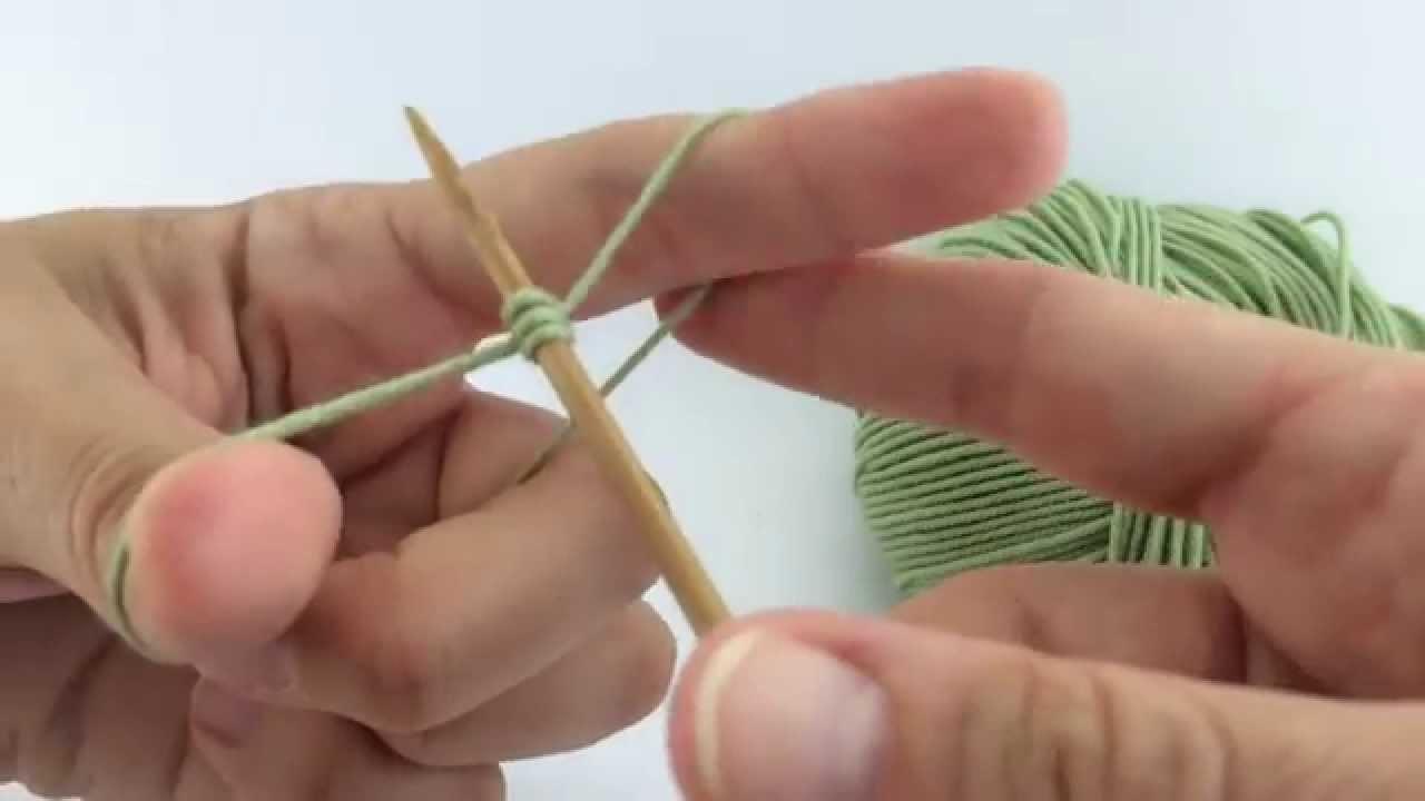 Difilato maglia: avvio coda lunga - Handknit knit long tail cast on italiano
