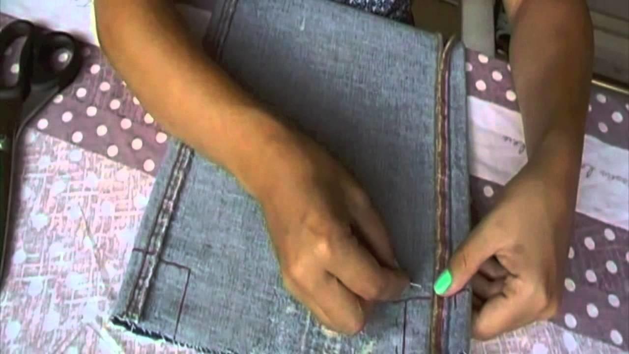 DIY: Portatutto riciclando vecchi jeans!