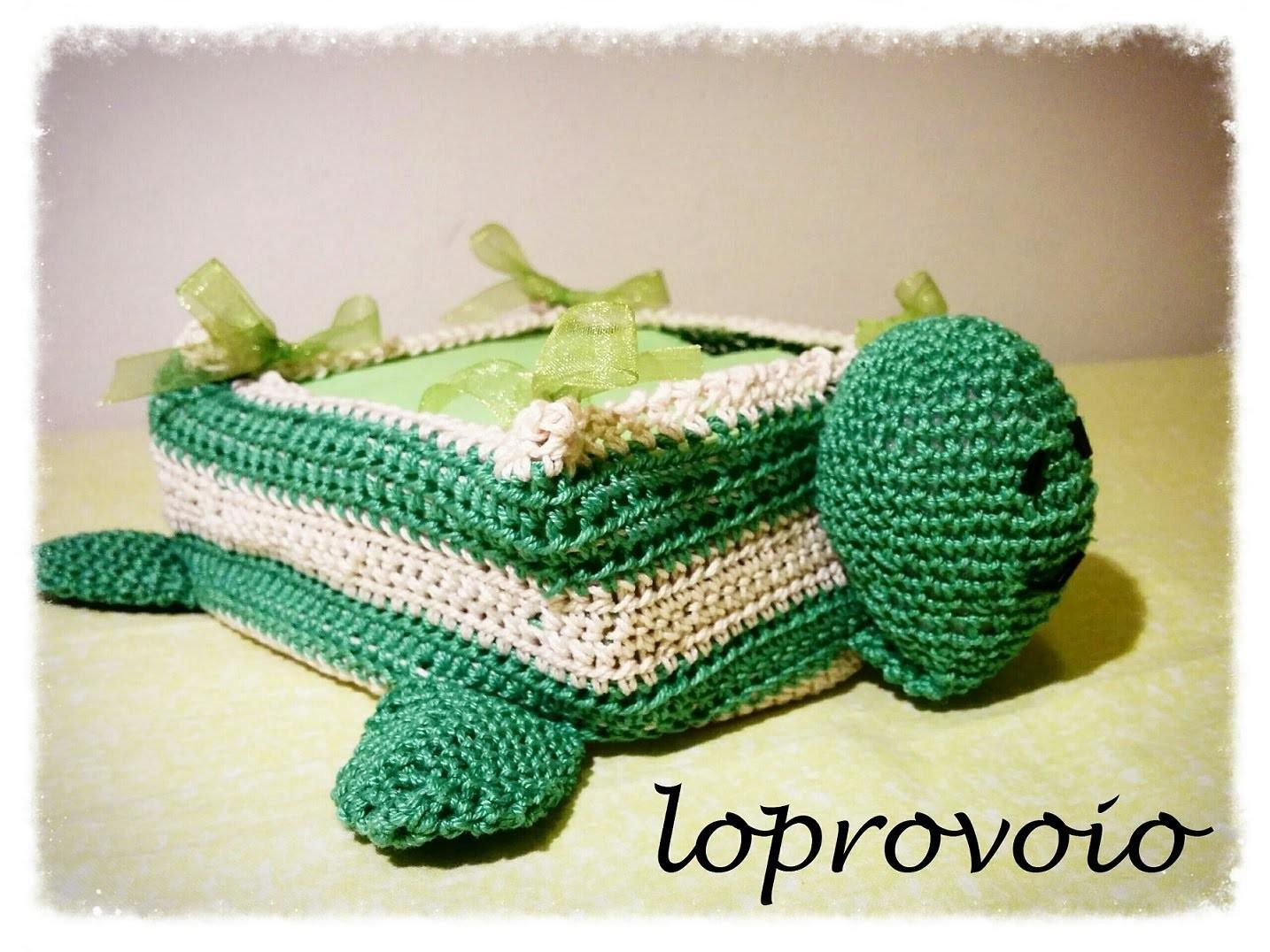 Tartaruga porta tovaglioli - Crochet Turtle Napkin Holder