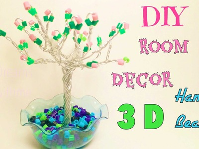 DIY alberello con pyssla.HAMA BEADS THREE BEADS ROOM DECOR