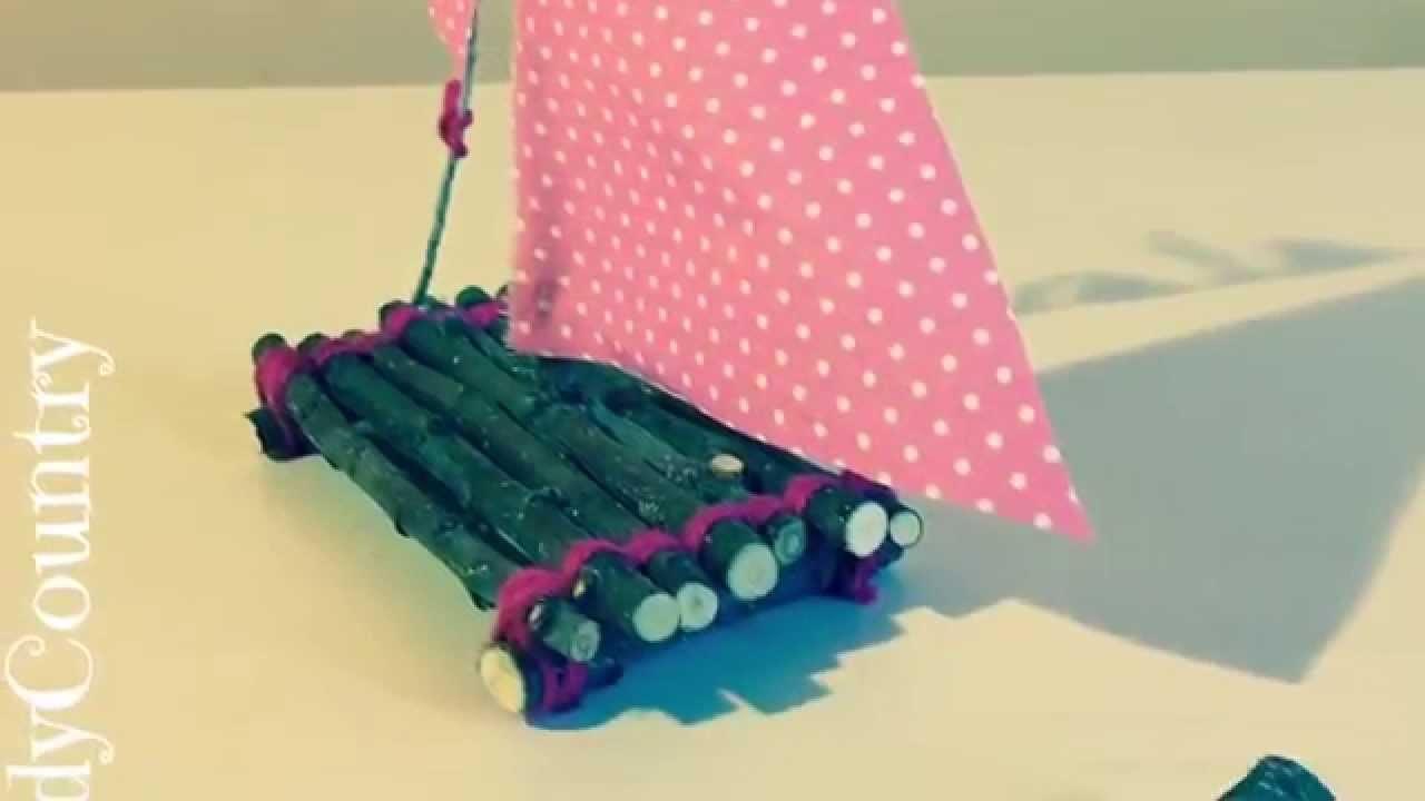Creare una barca a vela fai da te. Idea creativa DIY handmade da fare con i bambini