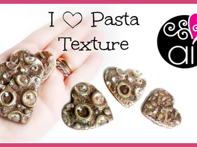 I love Pasta | Handmade Texture tutorial | Polymer Clay | Valentine's day Ideas
