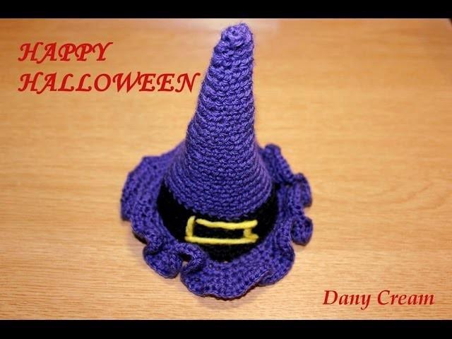Halloween: cappello da strega all'uncinetto - Crochet witch hat