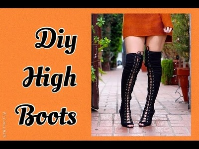 STIVALI ALTI fai da te.DIY.How to create high boots-Tutorial by Diana Toto