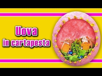 Come realizzare un uovo in cartapesta, paper mache egg