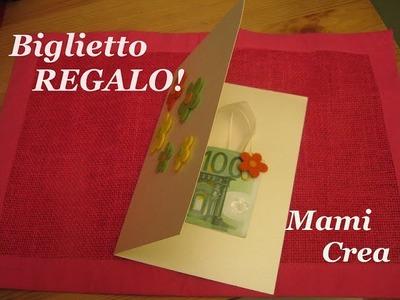 Idea regalo: BIGLIETTO AUGURI SOLDI --- DIY turorial
