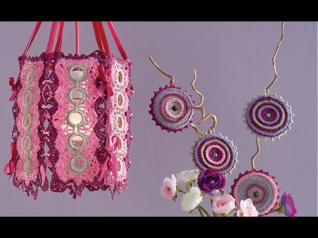 Uncinetto Fashion: La LAMPADA POP - rivestire gli ANELLINI by CROCHETDOLL