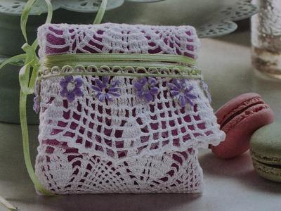 Tutorial Bomboniera porta confetti all' uncinetto (crochet) 2.4