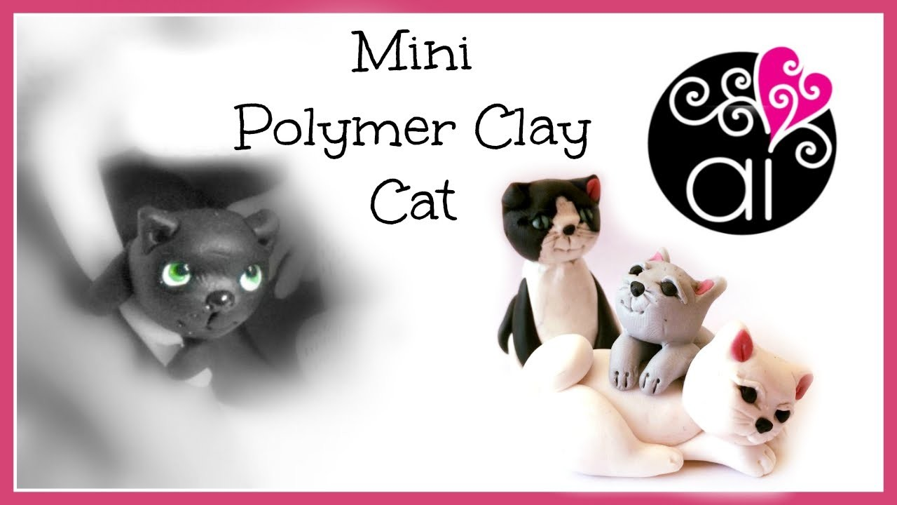 Mini Polymer Clay Cat | Gattino in Miniatura | Tutorial Fimo per Principianti