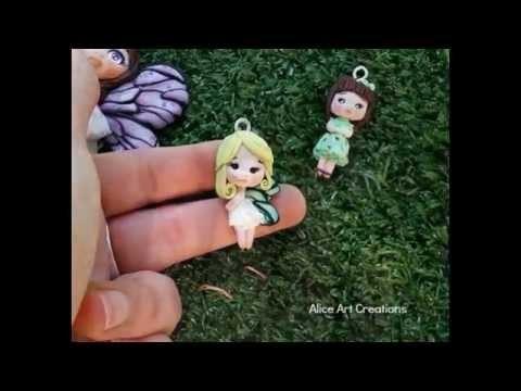 Miniature dolls my creations fairy polymer clay