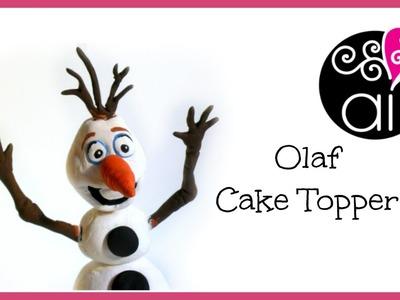 Olaf Cake Topper | Polymer Clay + Porcelana Fria Tutorial | Pasta di Mais e Fimo