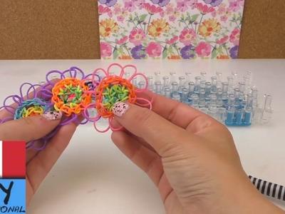 Grandissimo fiore di elastici Loom da due basi | Portachiavi alla moda DIY
