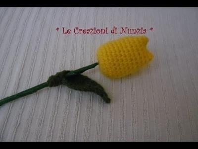 """( Amigurumi ) """" Fiore Tulipano """"  a uncinetto !!!"""