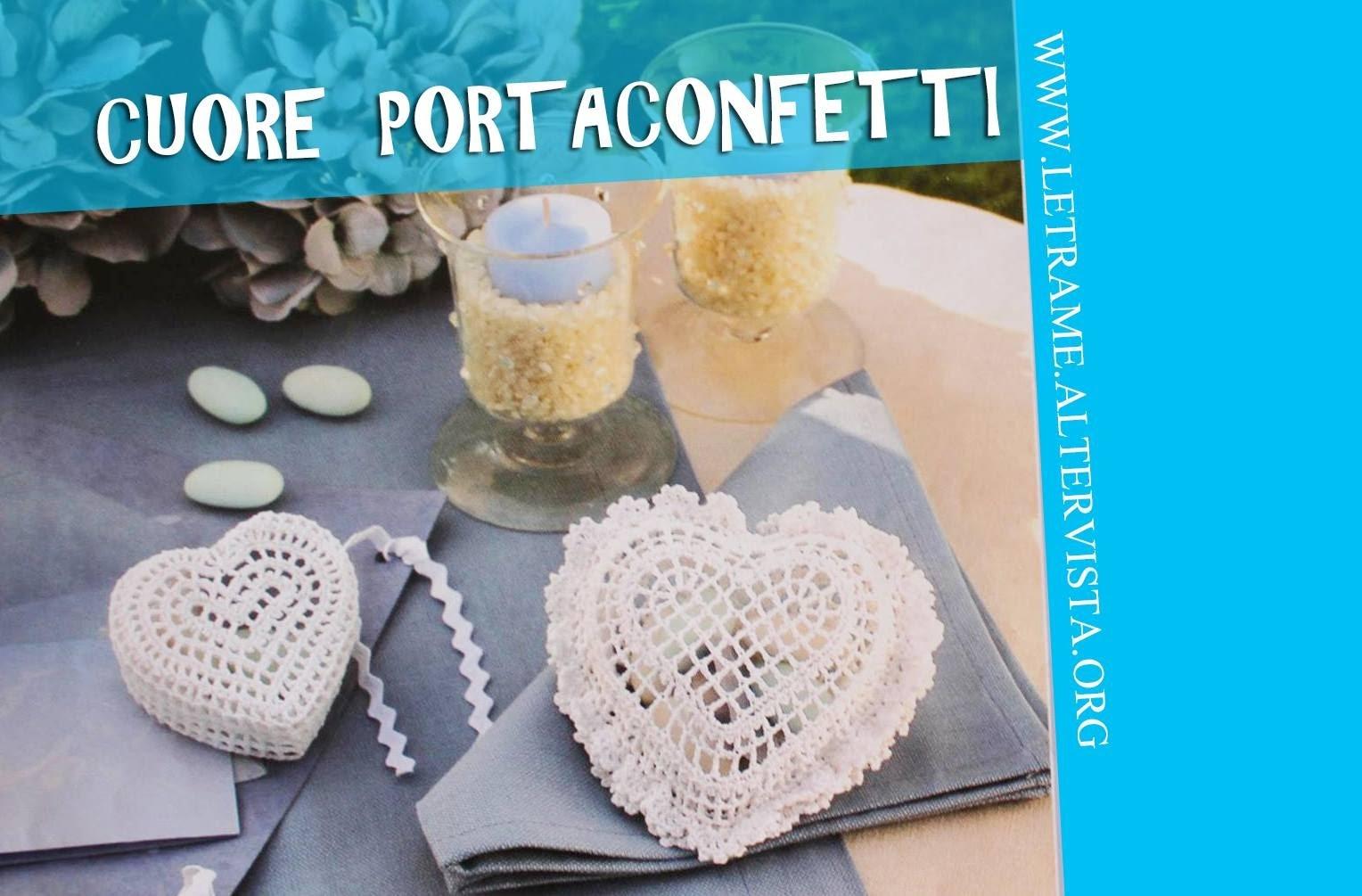 Tutorial Bomboniera all' uncinetto - Scrigno a cuore (crochet) 2.3