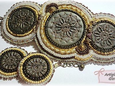 Creazioni con perline - Orecchini e bracciale embroidery per Contest autunno