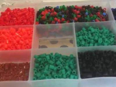 La mia Postazione Perline a Fusione.  Pyssla. Hama Beads