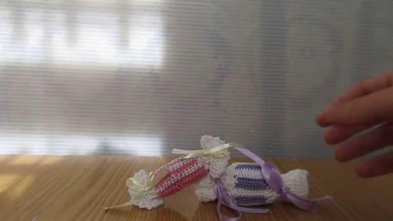 Confettate caramelle, realizzate a uncinetto. Le fantastiche idee regalo Coccinelle Creative.