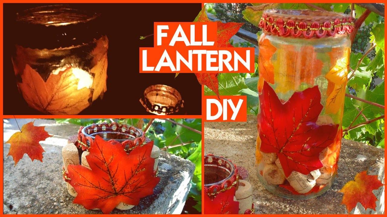 DIY Fall Lantern: Lanterne Autunnali | Riciclo Creativo collab. GemminaMakeup