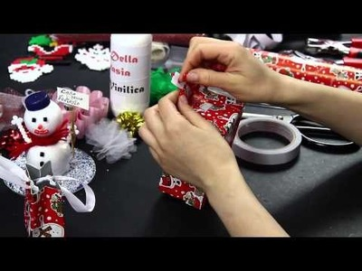 Video Tutorial borsetta natale porta regalo Christmas Shopping Christmas decorations creativo DIY