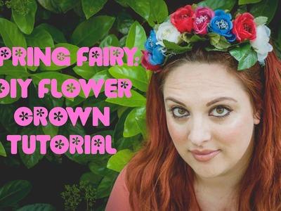 Spring Fairy: DIY Flower Crown TUTORIAL!