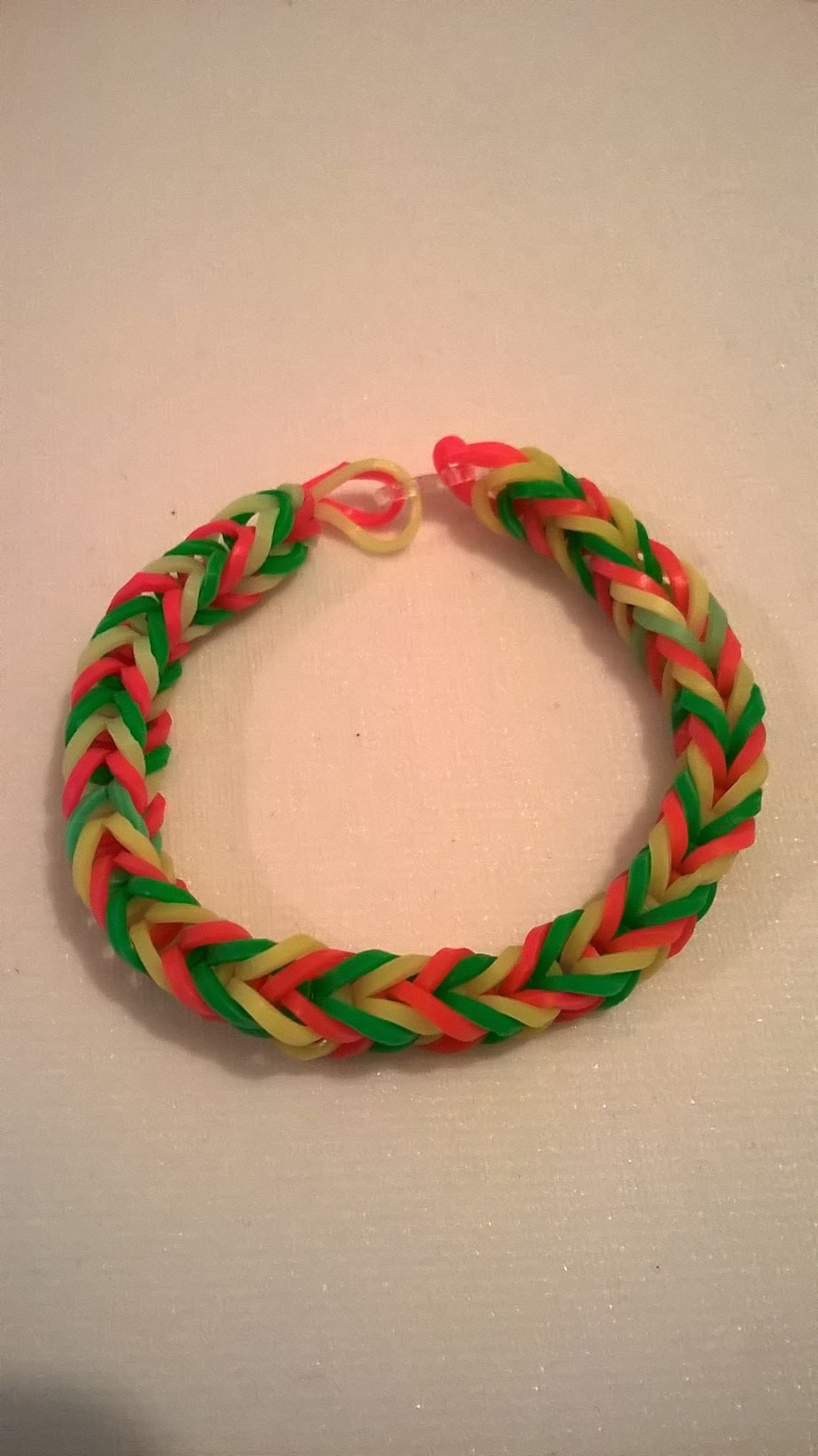Rainbow Loom -  tutorial bracciale 3 colori